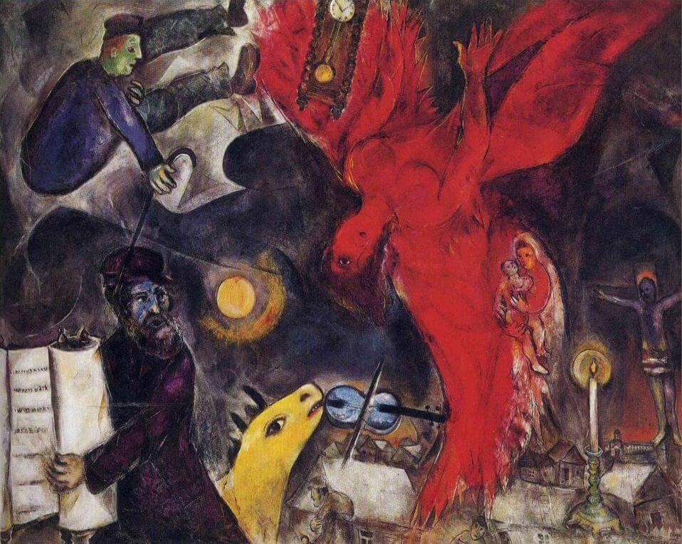 The Falling Angel, 1923-47 by Marc Chagall