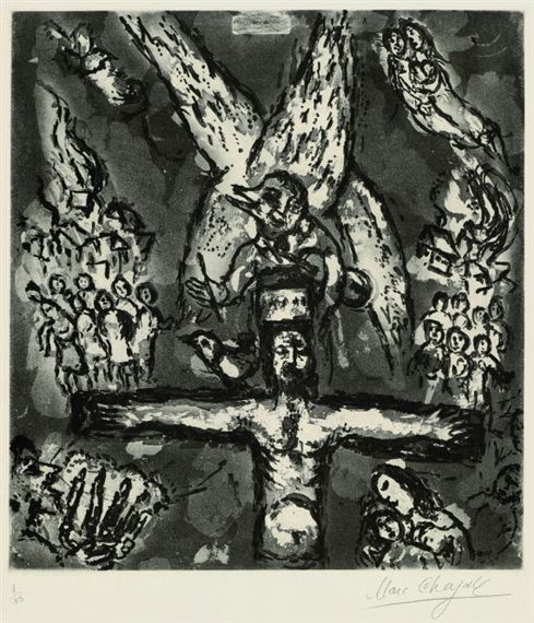 Artwork by Marc Chagall, Vision d'Apocalypse, Made of aquatint